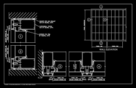 curtain wall details cad drawing gopelling net