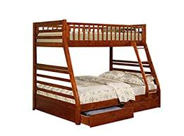 Coaster 460183-CO Twin Full Size Bunk Bed with Storage Drawers, Cherry Finish Amazon.com: