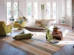 Pastellfarbe Hängematte Design Ideen Im Wohnzimmer Bereich Mit Grün Sofa  Design