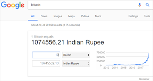 The worst day for conversion of 1 bitcoin in indian rupee in last 10 days was the 01/03/2021.exchange rate has reached to lowest price. Bitcoin Price Chart Google Gives Bitcoin Currency Status Converter