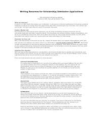 How To Write A Academic Resume Writing Resumes For Scholarship