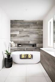 Kronos Ceramiche porcelain tile in Talco and Woodside timber-look porcelain  tile in Kauri,. Minimalist Bathroom DesignBathroom ModernBathroom ...