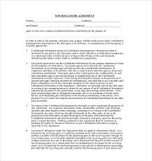 Free Nda Template 19 Non Disclosure Agreement Templates Free Sample