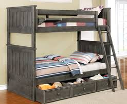 bunk beds with trundle and storage. Brilliant Bunk TwinTwin Jordan Bunk Bed In Weathered Grey With Ladder And Waterford Trundle  Storage To Beds With And W