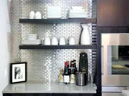 stainless steel l stick for kitchen and self adhesive design subway tiles pattern floating wall shelves
