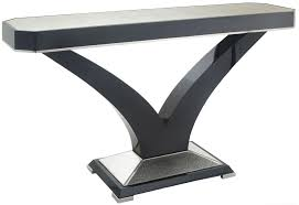 rv astley kildare black high gloss console table