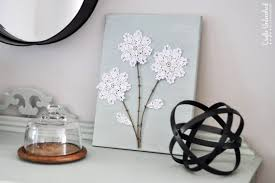 >diy canvas wall art shabby chic flowers crafts unleashed