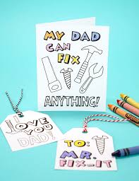 Simply fold the page in half vertical or horizontally depending on the template you pick. Printable Father S Day Card Coloring Page Happiness Is Homemade