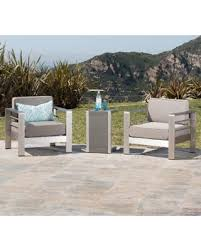 cape coral outdoor 3 piece aluminum seating set with cushions by christopher knight home aluminum chairs with aluminum table grey size 3 piece sets patio furniture