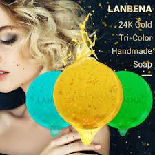 <b>LANBENA 24K Gold Handmade</b> Soap Anti-Aging Seaweed ...
