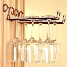 wall mounted stemware rack best of wine glass ikea