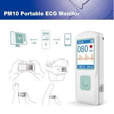 <b>CONTEC</b> Handheld <b>Portable ECG</b>/<b>EKG</b> Monitor Heart Rate Beat ...