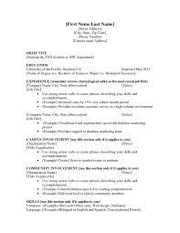 Resume Job Samples For College Students Seeking Internships