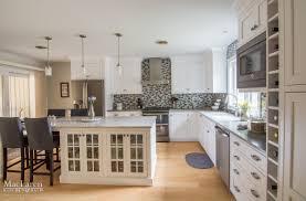 River White Granite Kitchen Transitional Granite And Quartz Grey Scale Kitchen Villanova Pa