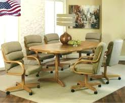 M Kitchen Table Chairs With Wheels Admirable Cool Ideas For Dining Sets  Casters Set Caster Dinett