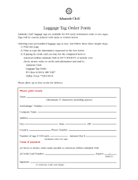 American Airlines Printable Luggage Tags Form Fill Out And
