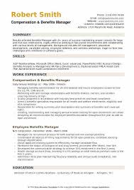 Audit Manager Resume Samples Benefits Manager Resume Samples Qwikresume