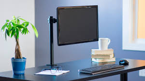 stand v001 single monitor desk mount by vivo