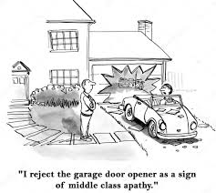 man reject the garage door opener as a sign of middle class apathy image de andrewgenn