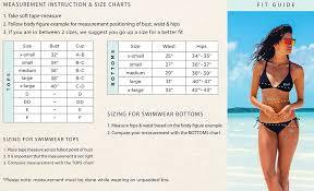 Nike Size Chart Women S Swimwear 10 Systematic Bathing Suit Sizing Chart