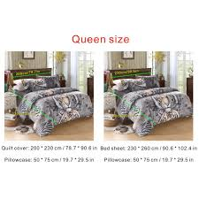 this 3d bedding set includes a quilt cover a bed sheet and 2pcs pillowcases it adopts 3d dis printing to make the patterns and colors
