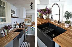 Modern black kitchen cabinets Dark New Home Design 25 Black Kitchen Ideas