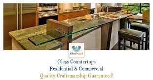glass countertop installations repairs replacements