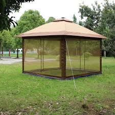 Solar Lights Gazebo Canopy Suntime St 11 Fully Enclosed Canopy Instant Popup Gazebo With Solar Powered Led Lights And Mesh Insect Screen Portable