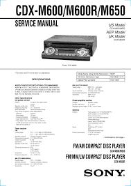 sony xplod 52wx4 stereo wiring diagram wiring diagram and sony cdx gt51w manuals sony cdx m600 wiring harness diagram car