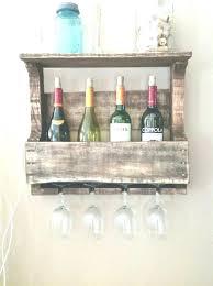 floating wine glass shelf holder glamorous rack under pottery barn6 rack