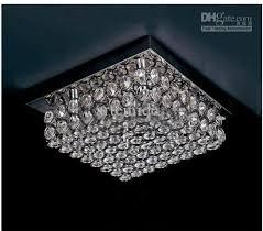 modern silver square k9 crystal chandelier ceiling lamp for hotel in crystal square modern ceiling