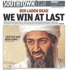 osama bin laden dead see newspaper front pages around the world southtown star bin laden dead we win at last