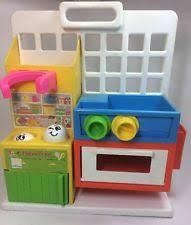 vintage fisher toddler play pretend kitchen 1986 toy 1008 ebay