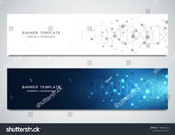 Design Science Software Vector Banners Design For Medicine Science And Technology