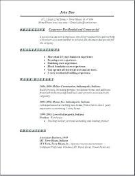 Carpenter Resume Template Classy Carpenter Resume Templates Free Edit With Word Inside Template