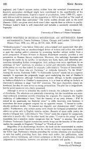 Women writers in russian modernism