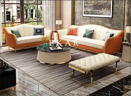 metal legs leather sofa set