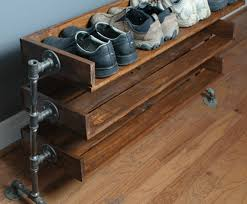 Reclaimed Wood Shoe Rack available via ReformedWood