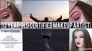 im a 13 year old certified makeup artist