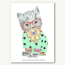 Cat Designer Verrier You Are The Cats Meow Verrier Handcrafted