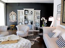 black wall living room decorating walls in