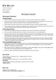 Clever Format American Career College Optimal Resume Form Entry Level Jobs  With Biology Degree 11 American