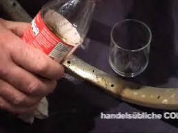 Chrom Rost entfernen mit Cola und Alu Folie - YouTube