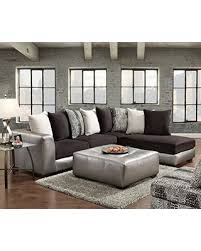 microfiber sectional sofa. Brilliant Microfiber Roundhill Furniture Shimmer Pewter Microfiber Sectional Sofa And Ottoman  Black Intended G