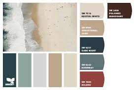 Color Palettes For Home Interior Enchanting Decor Beach House Interior Paint  Colors And Coastal Summer Beach Tones Color Palette Beach House Decorating