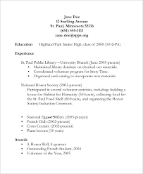 resume examples high school student sample high school resume 7 examples in pdf