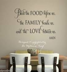 bless the food before us family beside us love between us fancy vinyl wall kitchen decal sticker pinterest kitchen decals fancy and kitchens on vinyl wall art quotes for kitchen with bless the food before us family beside us love between us fancy