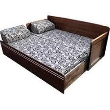 sofa cum bed. Tuxedo Brown Sofa Cum Bed