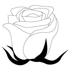 商用フリー無料イラストモノクロのバラの花rose14 商用okフリー