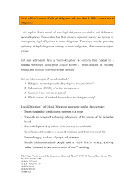 90150669 Hart Essay On Legal Obligations And Moral